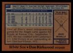 1978 Topps #251  Don Kirkwood  Back Thumbnail