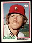 1978 Topps #301  Buddy Schultz  Front Thumbnail