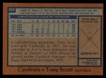 1978 Topps #352  Tony Scott  Back Thumbnail