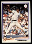 1978 Topps #135  Ron Guidry  Front Thumbnail