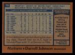 1978 Topps #79  Darrell Johnson  Back Thumbnail