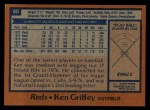 1978 Topps #80  Ken Griffey  Back Thumbnail