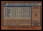 1978 Topps #634  Len Barker  Back Thumbnail