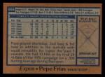 1978 Topps #654  Pepe Frias  Back Thumbnail