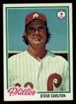 1978 Topps #540  Steve Carlton  Front Thumbnail