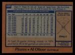 1978 Topps #430  Al Oliver  Back Thumbnail