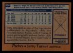 1978 Topps #364  Jerry Turner  Back Thumbnail