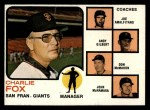 1973 Topps #252 ORG  -  Charlie Fox / Joe Amalfitano / Andy Gilbert / Don McMahon / John McNamara Giants Leaders Front Thumbnail