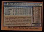 1978 Topps #419  Jerry Garvin  Back Thumbnail