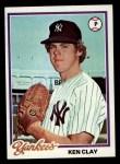 1978 Topps #89  Ken Clay  Front Thumbnail