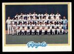 1978 Topps #724   Royals Team Checklist Front Thumbnail