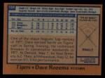 1978 Topps #124  Dave Rozema  Back Thumbnail