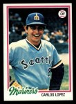 1978 Topps #166  Carlos Lopez  Front Thumbnail