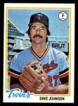 1978 Topps #627  David Johnson  Front Thumbnail