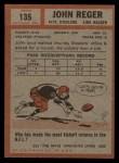1962 Topps #135  John Reger  Back Thumbnail