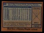 1978 Topps #642  Denny Doyle  Back Thumbnail