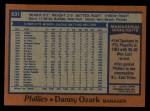 1978 Topps #631  Danny Ozark  Back Thumbnail
