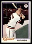 1978 Topps #648  Gary Thomasson  Front Thumbnail