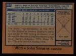 1978 Topps #334  John Stearns  Back Thumbnail