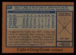 1978 Topps #397  Greg Gross  Back Thumbnail