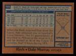 1978 Topps #149  Dale Murray  Back Thumbnail