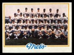 1978 Topps #356   Mets Team Checklist Front Thumbnail