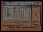 1978 Topps #268  Gil Flores  Back Thumbnail