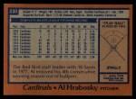 1978 Topps #230  Al Hrabosky  Back Thumbnail