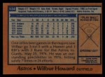 1978 Topps #534  Wilbur Howard  Back Thumbnail