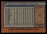 1978 Topps #663  Paul Reuschel  Back Thumbnail