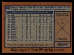 1978 Topps #103  Tom Murphy  Back Thumbnail