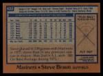 1978 Topps #422  Steve Braun  Back Thumbnail