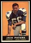 1961 Topps #26  Jack Patera  Front Thumbnail