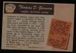 1955 Bowman #293  Tom Gorman  Back Thumbnail