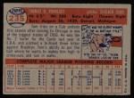 1957 Topps #235  Tom Poholsky  Back Thumbnail