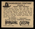 1950 Topps Hopalong Cassidy #8   Ready for trouble Back Thumbnail