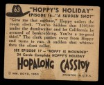 1950 Topps Hopalong Cassidy #63   sudden shot Back Thumbnail