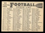 1959 Topps #133   Giants Team Checklist Back Thumbnail