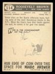 1959 Topps #114  Roosevelt Brown  Back Thumbnail