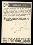 1959 Topps #139   Lions Pennant Back Thumbnail