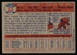 1957 Topps #34  Tom Sturdivant  Back Thumbnail