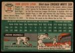 1954 Topps #19  John Lipon  Back Thumbnail
