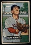 1951 Bowman #72  Lloyd Merriman  Front Thumbnail