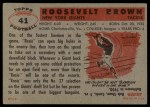 1956 Topps #41  Roosevelt Brown  Back Thumbnail