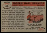 1956 Topps #44  Joe Schmidt  Back Thumbnail