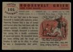 1956 Topps #101  Roosevelt Grier  Back Thumbnail