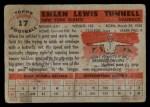 1956 Topps #17  Emlen Tunnell  Back Thumbnail