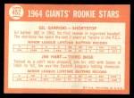 1964 Topps #452   -  Gil Garrido / Jim Ray Hart Giants Rookies Back Thumbnail