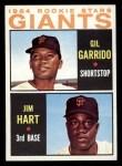 1964 Topps #452   -  Gil Garrido / Jim Ray Hart Giants Rookies Front Thumbnail