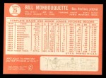 1964 Topps #25  Bill Monbouquette  Back Thumbnail